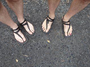 Proper running footwear was worn.